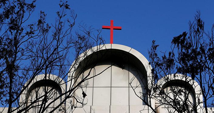 Una de las iglesias atacadas por los terroristas en Indonesia
