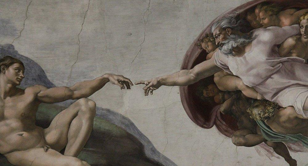 La Creación de Adán, Miguel Ángel