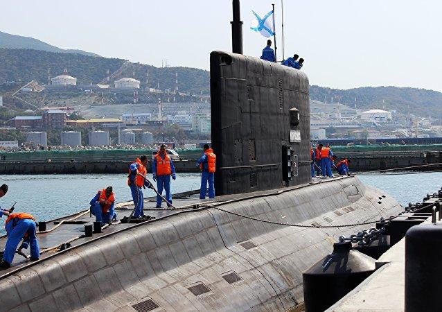 Submarino ruso Novorossiysk de la clase Varshavianka