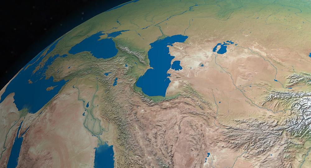 Los mares Negro (izqd.) y Caspio (dcha.)