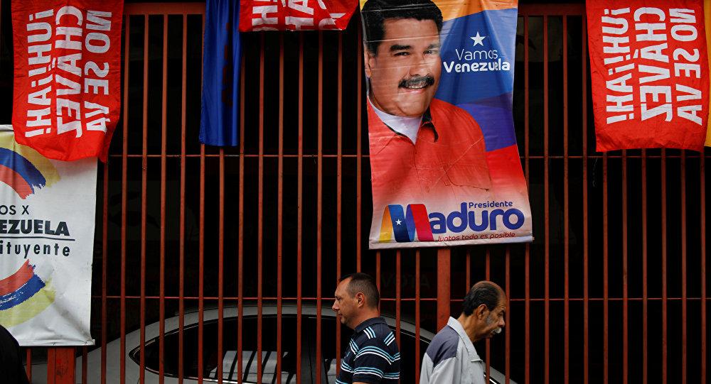 Carteles electorales en Caracas, Venezuela