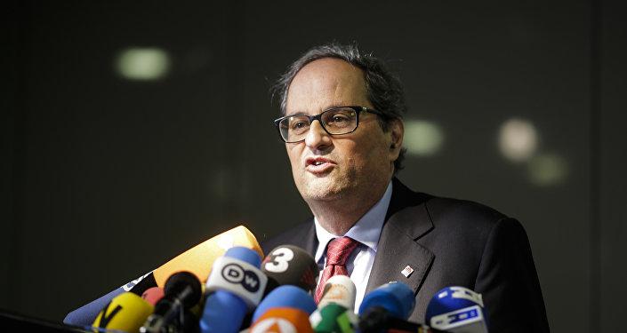 Quim Torra, presidente de la Generalitat de Cataluña