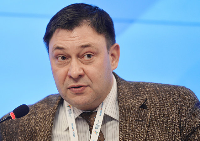 Kiril Vishinski, jefe del portal RIA Novosti Ukraina