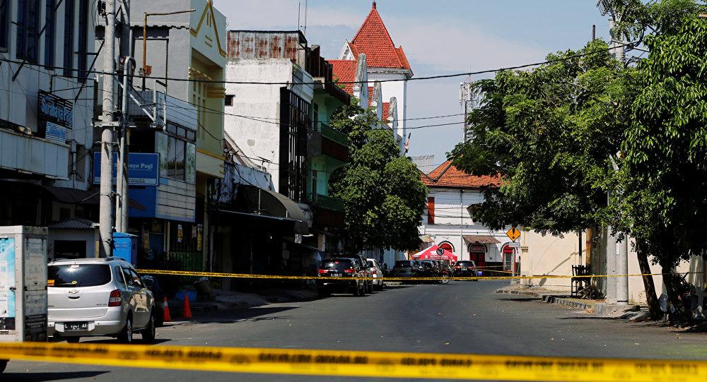 Situación en Indonesia tras un atentado terrorista en Surabaya, Indonesia