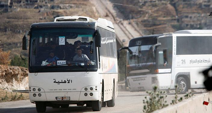 La evacuación de radicales en Siria (Archivo)