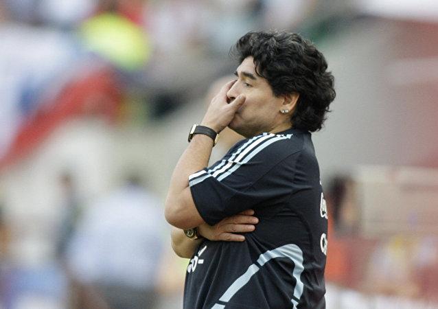 El exjugador argentino Diego Armando Maradona