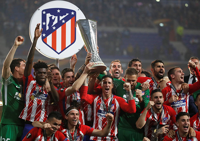 Atlético de Madrid celebra la victoria