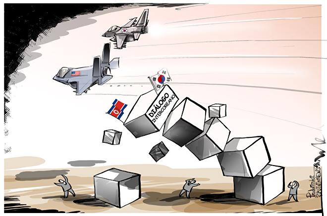 ¡Enhorabuena, Trump! Crisis entre las dos Coreas por unos ejercicios de Washington y Seúl