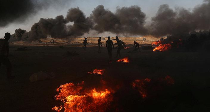 Situación en Gaza (archivo)