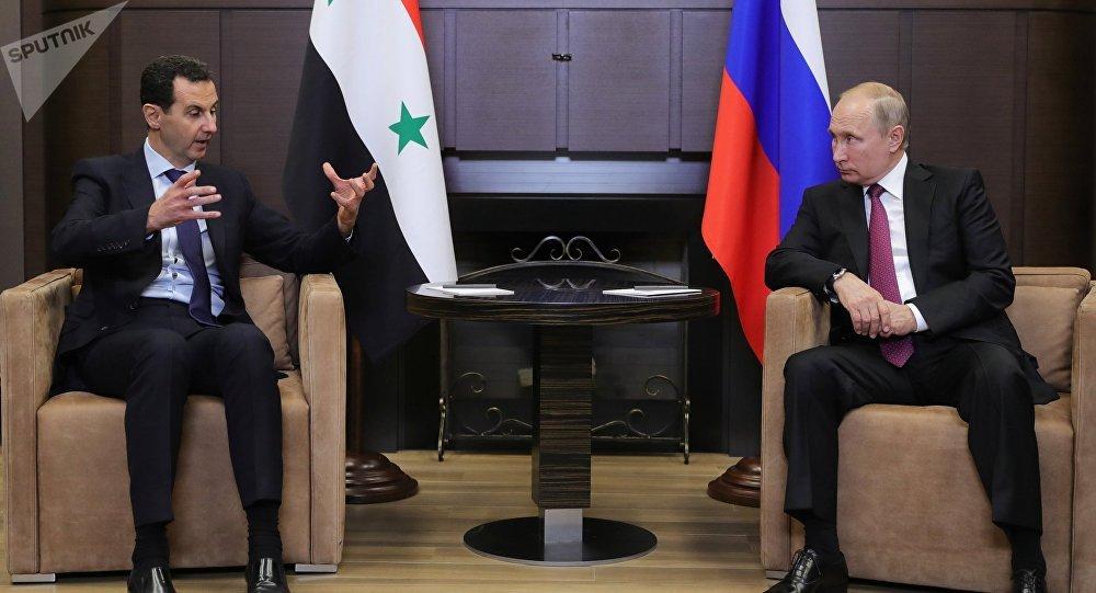 El presidente de Siria, Bashar al Asad y el presidente de Rusia, Vladímir Putin