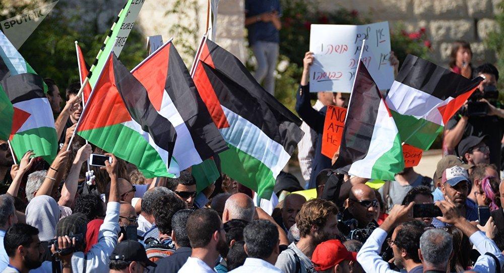 Protestas en Palestina (archivo)