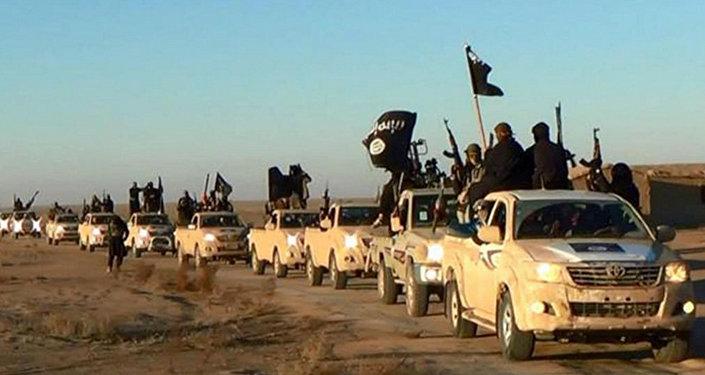 Terroristas del Estado Islámico (archivo)