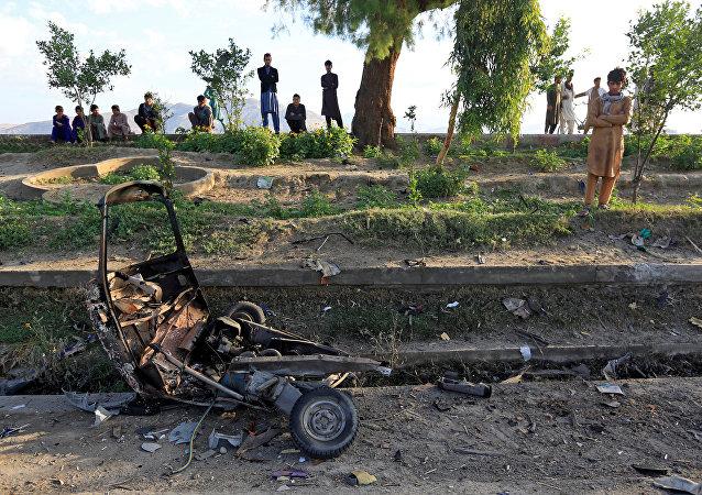 Lugar de explosiones ciudad de afgana de Jalalabad