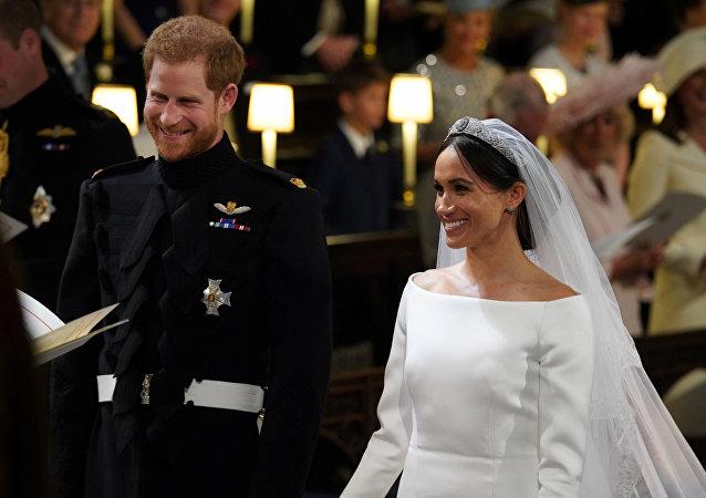 Príncipe Enrique y Meghan Markle