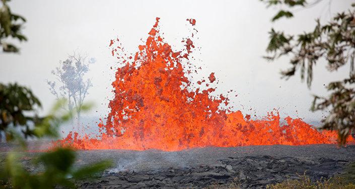 La erupción del volcán Kilauea en Hawái