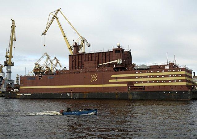 La central flotante Akademik Lomonosov