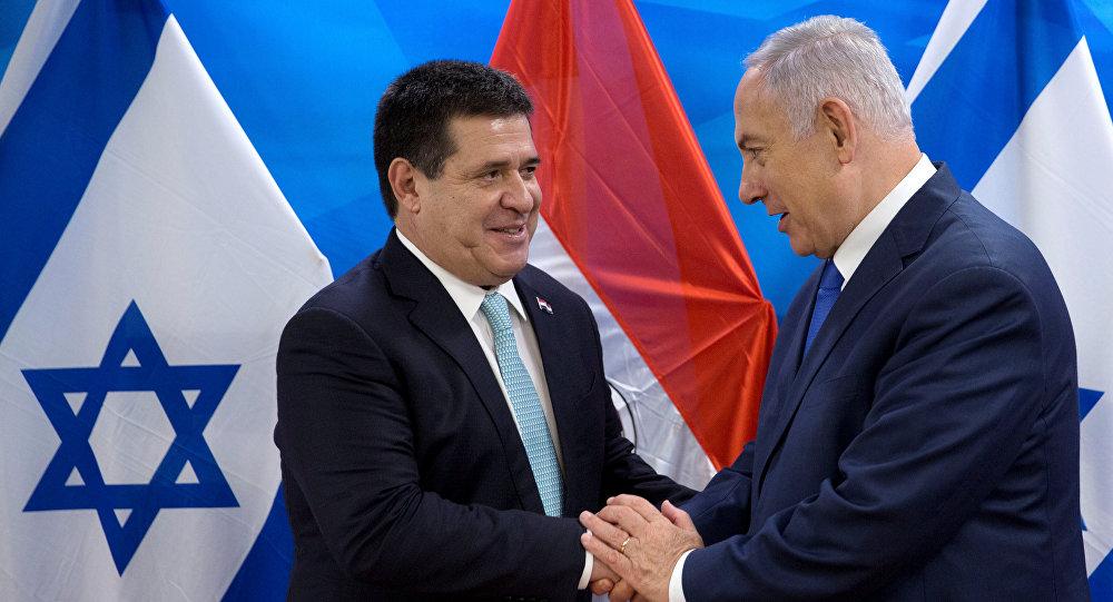 El presidente de Paraguay, Horacio Cartes y el primer ministro israelí, Benjamín Netanyahu