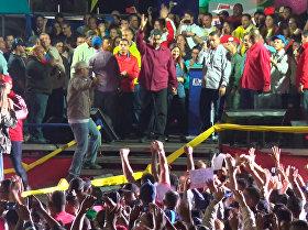 Partidarios de Maduro celebran su victoria con bailes y canciones