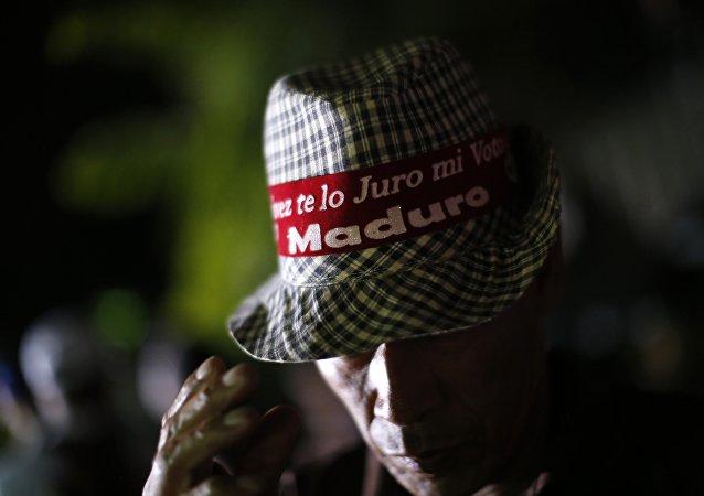 Seguidor de Nicolás Maduro en Caracas, Venezuela