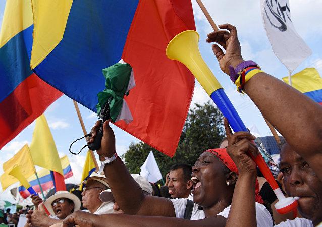 Las banderas de Colombia