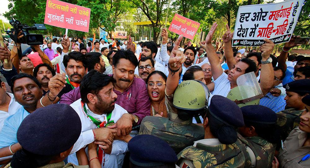 Protestas en Tamil Nadu, la India