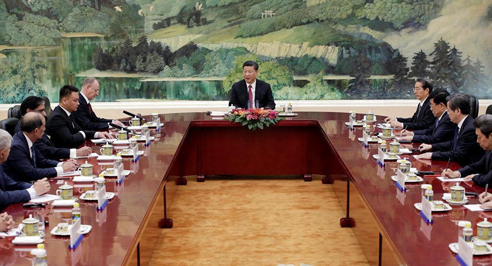 El presidente chino, Xi Jinping, en pleno discurso durante la reunión de la OCS