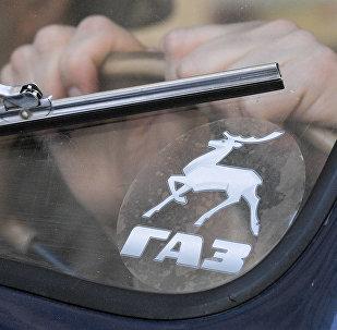 Logo de la empresa automotriz rusa Gaz