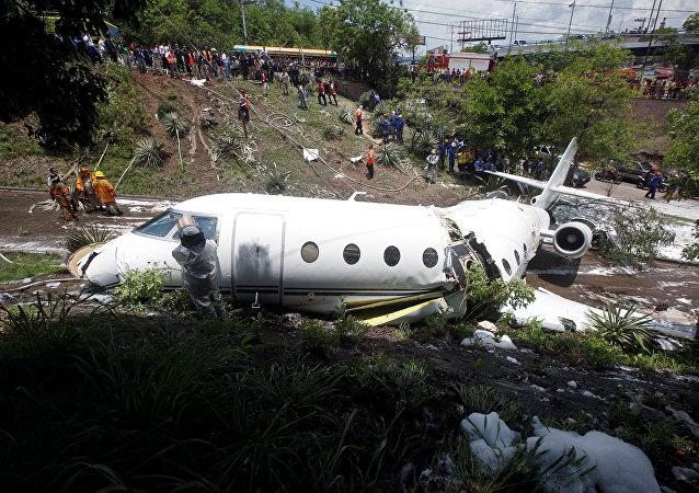 La aeronave Gulfstream G200 se despista en el aeropuerto de Tegucigalpa