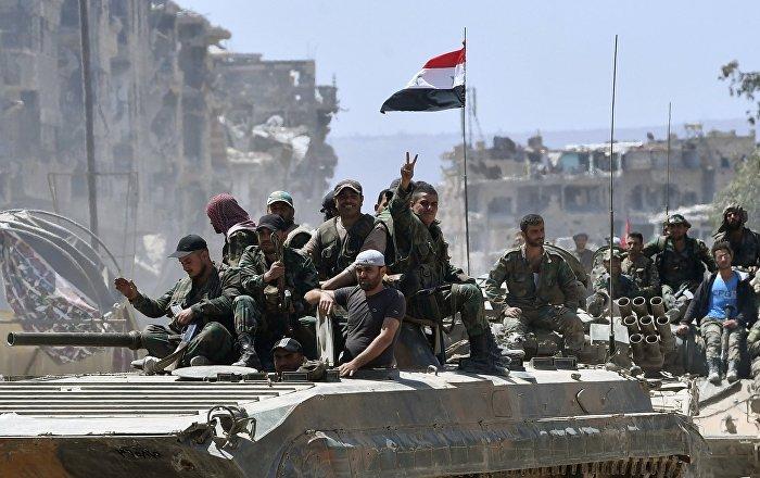 El Ejército sirio libera de los terroristas el campo de refugiados palestinos Yarmuk situado en el sur de Damasco