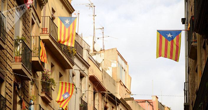 Banderas independentistas de Cataluña
