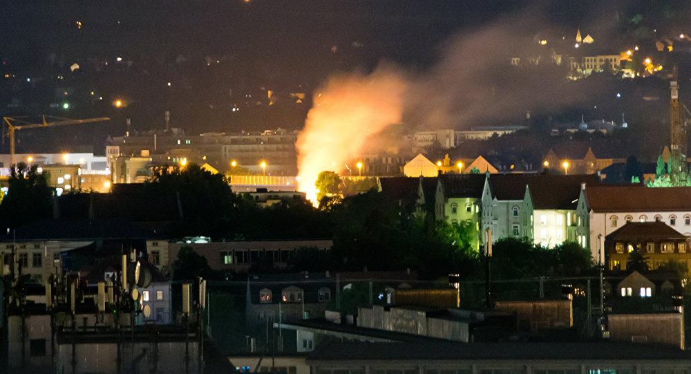 Explosión de una bomba de la II Guerra Mundial en Dresde (Alemania), el 23 de mayo de 2018