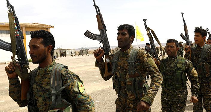 Miembros de las Fuerzas Democráticas Sirias