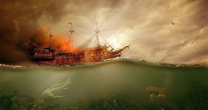 Un buque naufragando, referencial