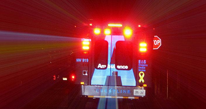 Una ambulancia canadiense