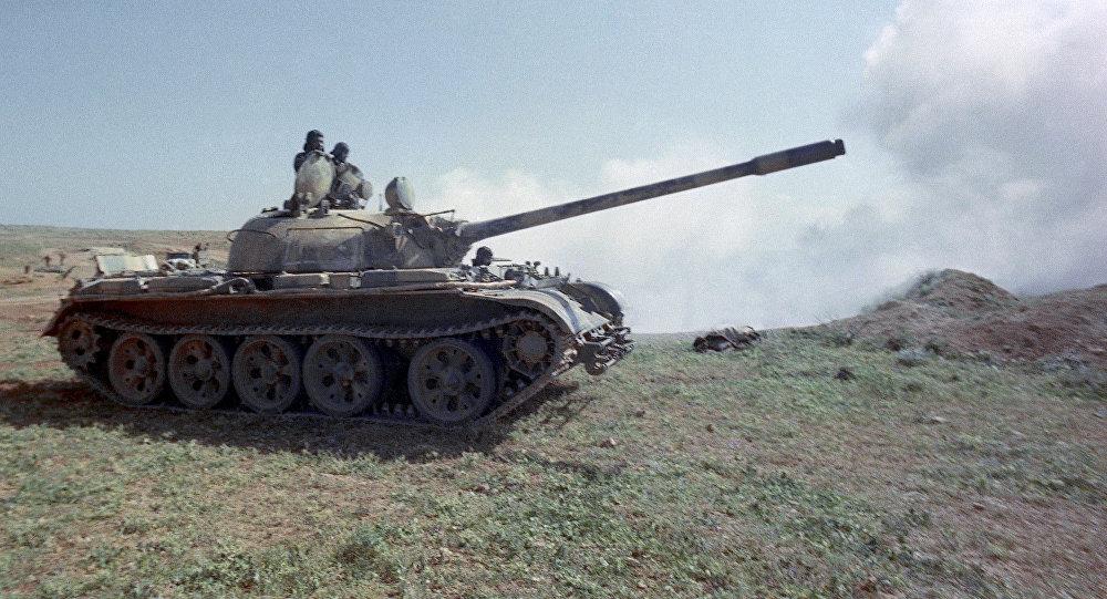El tanque sirio T-55, creado en la URSS
