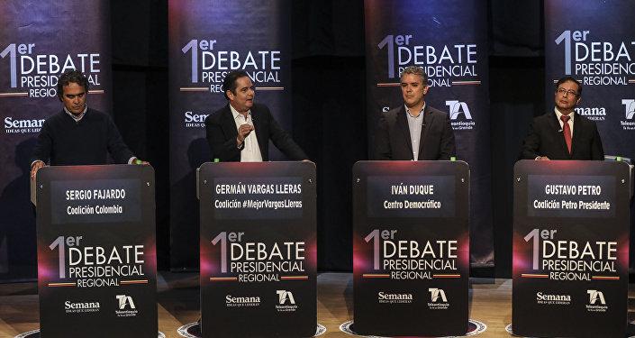 Sergio Fajardo, German Vargas Lleras, Ivan Duque y Gustavo Petro