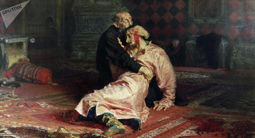 Hombre ebrio dañó la obra Iván el Terrible y su hijo