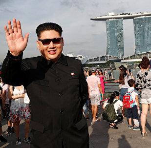 Howard X, imitador del líder norcoreano Kim Jong-un, en Singapor