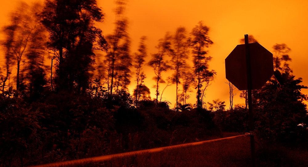 Aparecen flamas azules en carreteras tras nueva erupción del Kilauea - Noticias - Nota