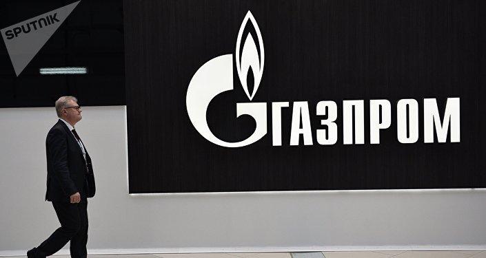 El logo de Gazprom (archivo)