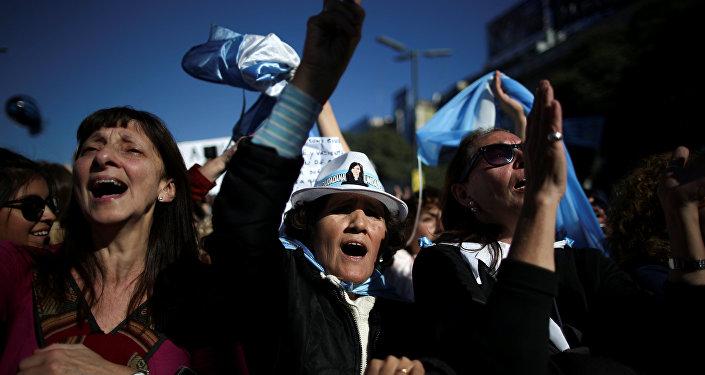 Numerosa manifestación recorre Argentina