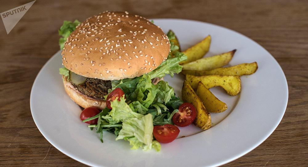 La hamburguesa vegetariana de Green Cafe