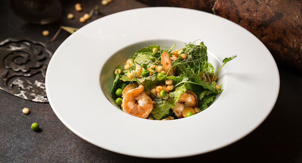 Una ensalada en el restaurante Barán-Rapán