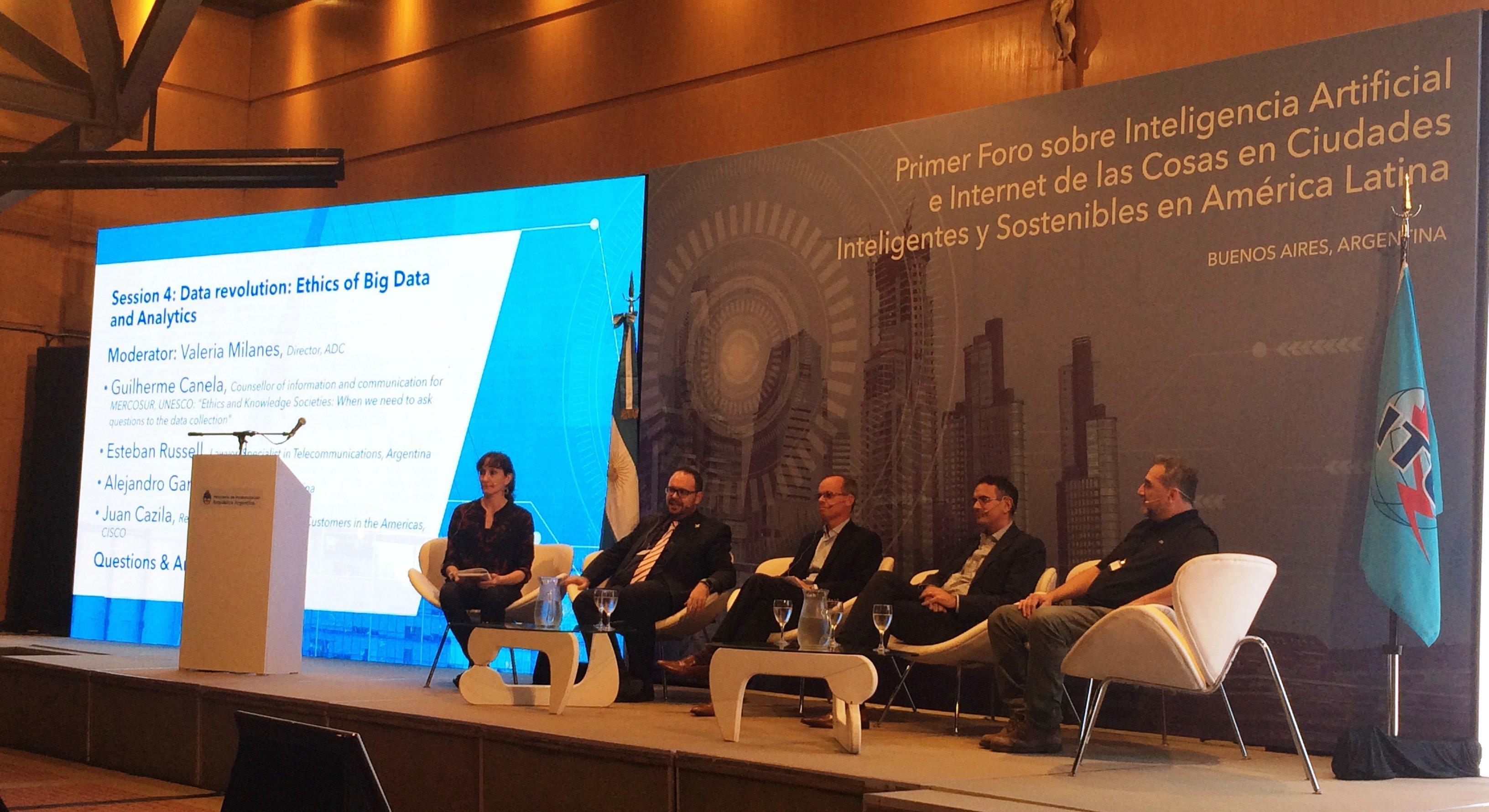 Primer Foro sobre Inteligencia Artificial e Internet de las Cosas en Ciudades Inteligentes sostenibles en América Latina  (Buenos Aires, Argentina)