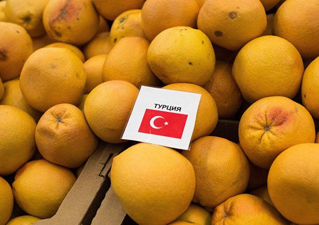 Naranjas turcas en un supermercado de Omsk, Rusia, imagen referencial
