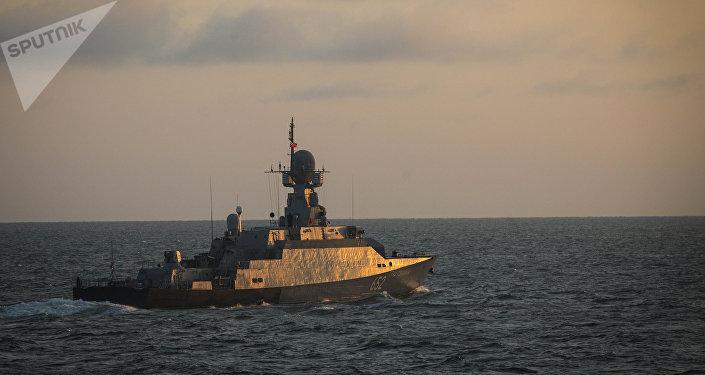 Un buque de la Flotilla del Caspio