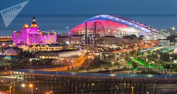 El estadio Fisht en Sochi