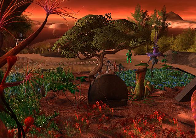 Una colonia marciana, imagen ilustrativa