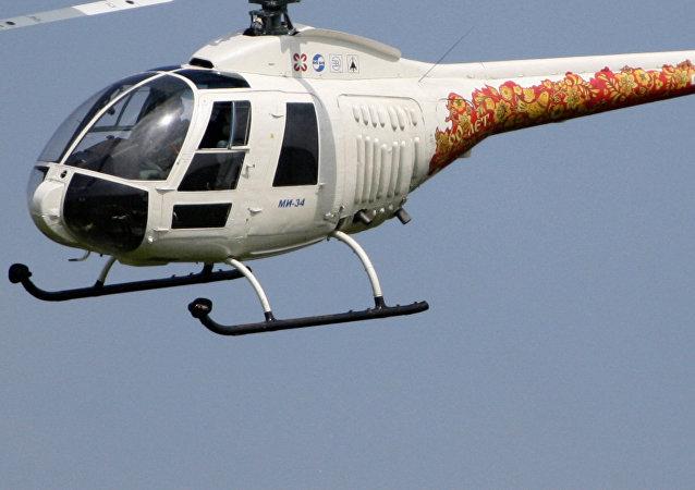 Un helicóptero Mi-34, imagen referencial