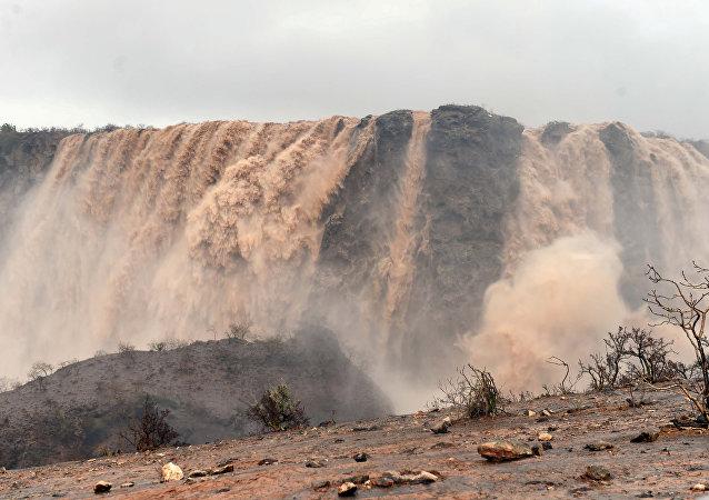 Vista general después del ciclón Mekunu en Salalah, Omán